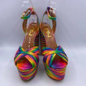 FSJ  Chunky Heel Platform Ankle Strap Sandals